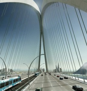 670 feet Tall World's Tallest Arch Bridge in Dubai