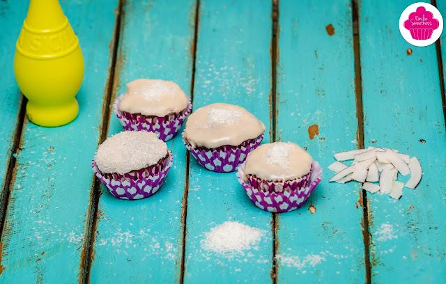 Muffins citron et noix de coco avec glaçage