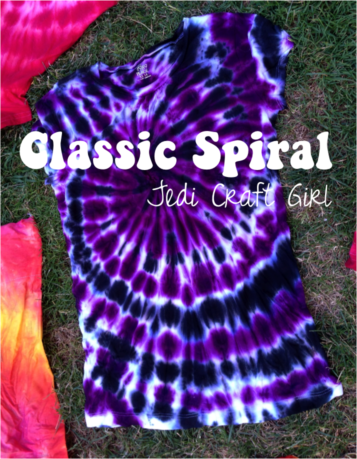 jedi craft girl tie dye 101 the classic spiral. Black Bedroom Furniture Sets. Home Design Ideas