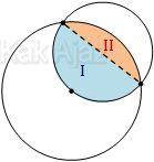 Daerah irisan lingkaran besar dan lingkaran kecil