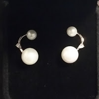 pearl and zirconia earrings