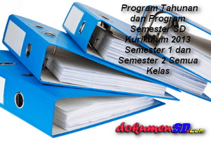 Program Tahunan dan Program Semester SD Kurikulum 2013 Semester 1 dan Semester 2 Semua Kelas