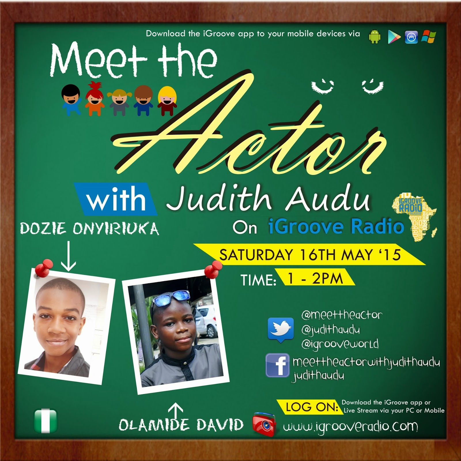 Afro introduction show profile of audu