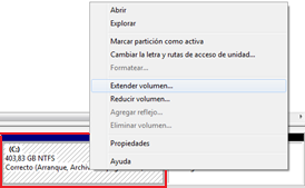 Como crear o eliminar particiones en Windows 7 sin tener que formatear -http://4.bp.blogspot.com/-AHsf9ehHZqw/T0vPu4bgMFI/AAAAAAAAACM/MbdVfwQn2I4/s1600/Extender+volumen.png