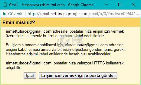 Erişim izni için e-posta gönder