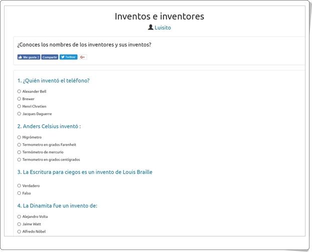 """Inventos e inventores"" (Trivial de Secundaria)"