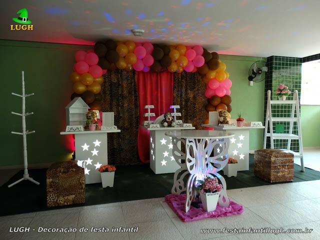 Decoração tema Oncinha para festa de aniversário feminino adulto ou adolescente