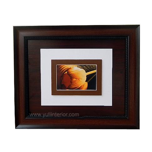 11x14 Brown Wall Frame,Single Yellow Rose, Nigeria