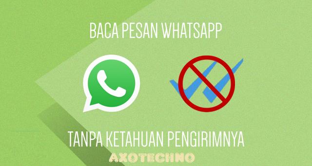 Cara Membaca Pesan Whatsapp Tanpa Ketahuan