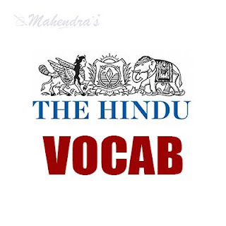 The Hindu Vocabulary For SBI Clerk and Syndicate Bank PO | 26 - 01 - 18