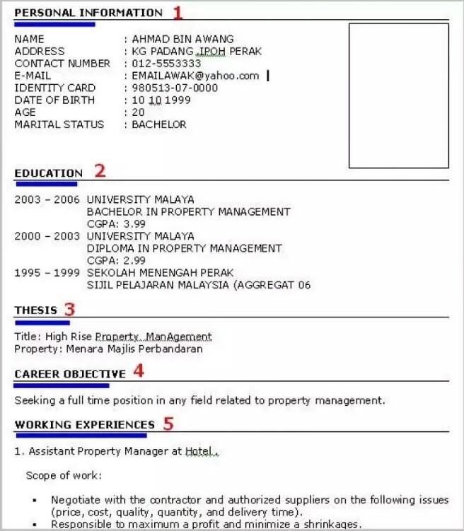 cara membuat resume untuk lepasan spm
