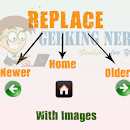 Change Older,Newer and Home Links with Image or Text in Blogger