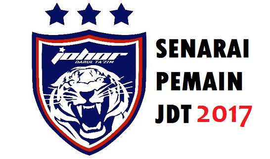 Senarai Pemain JDT 2017 Liga Super Malaysia