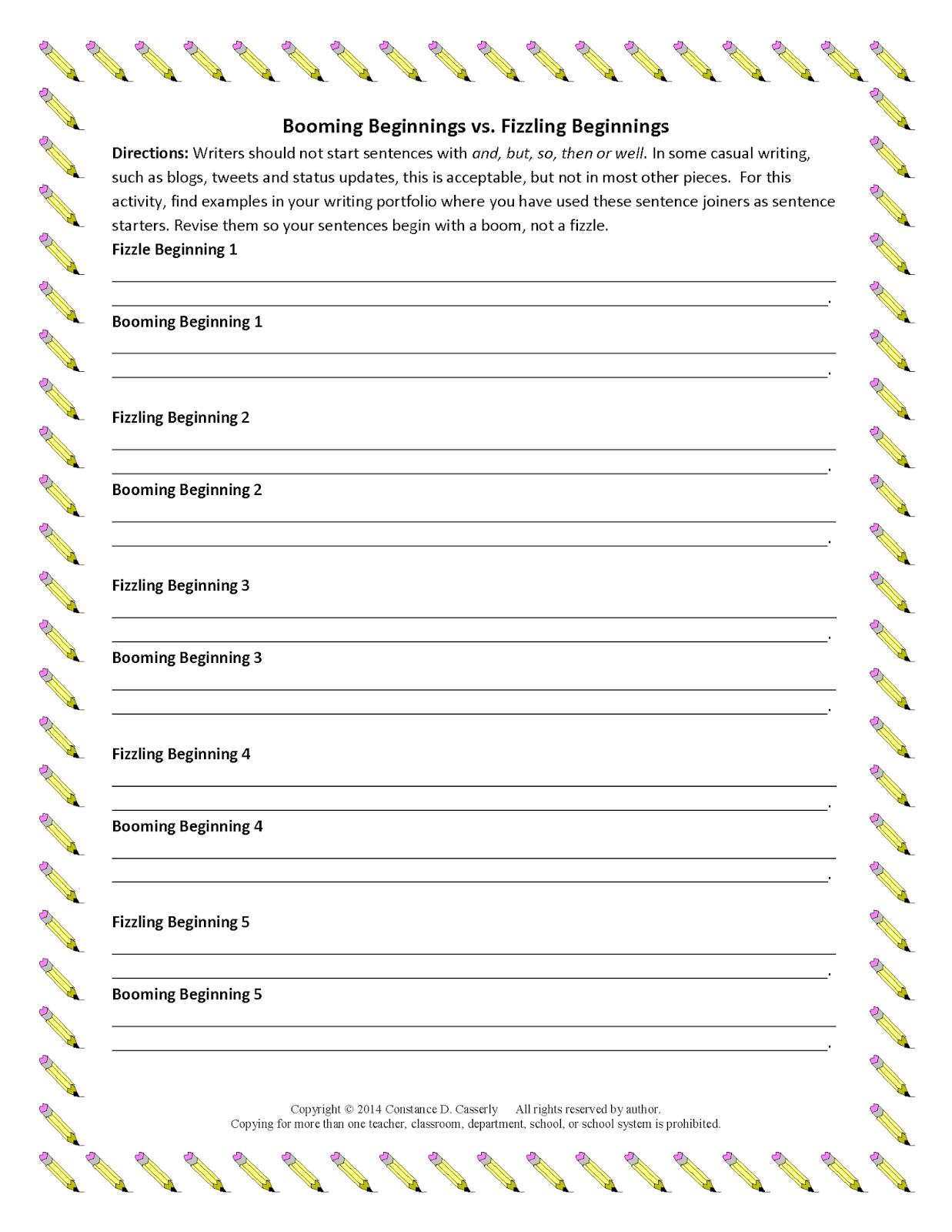 Persuasive Essay Starter Sentences