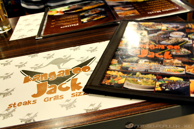 Kangaroo Jack Menu and Table