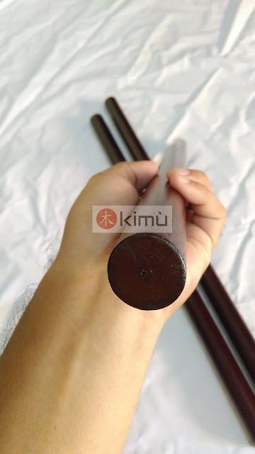 KIMU Dark Dragon 60cm Arnis Stick (Tongkat Arnis Bengkirai 60cm)