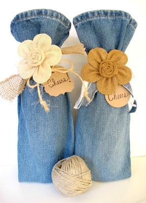 http://mysoulfulhome.com/wine-bag-repurpose-pant-legs-wine-bags/