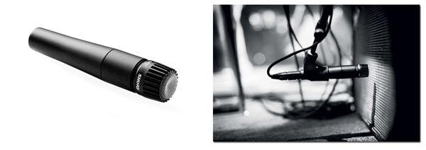 Micrófono Shure SM57 LC para Grabar Amplificador de Guitarra Eléctrica