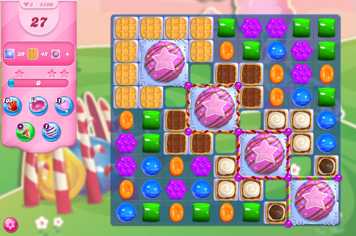 Candy Crush Saga level 5200
