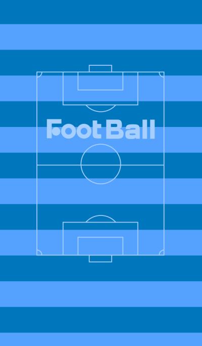 FootBall BlueSilhouette