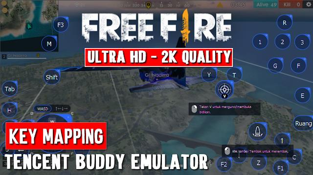 Penjelasan Key Mapping Free Fire Terbaru Tencent Buddy Emulator 10