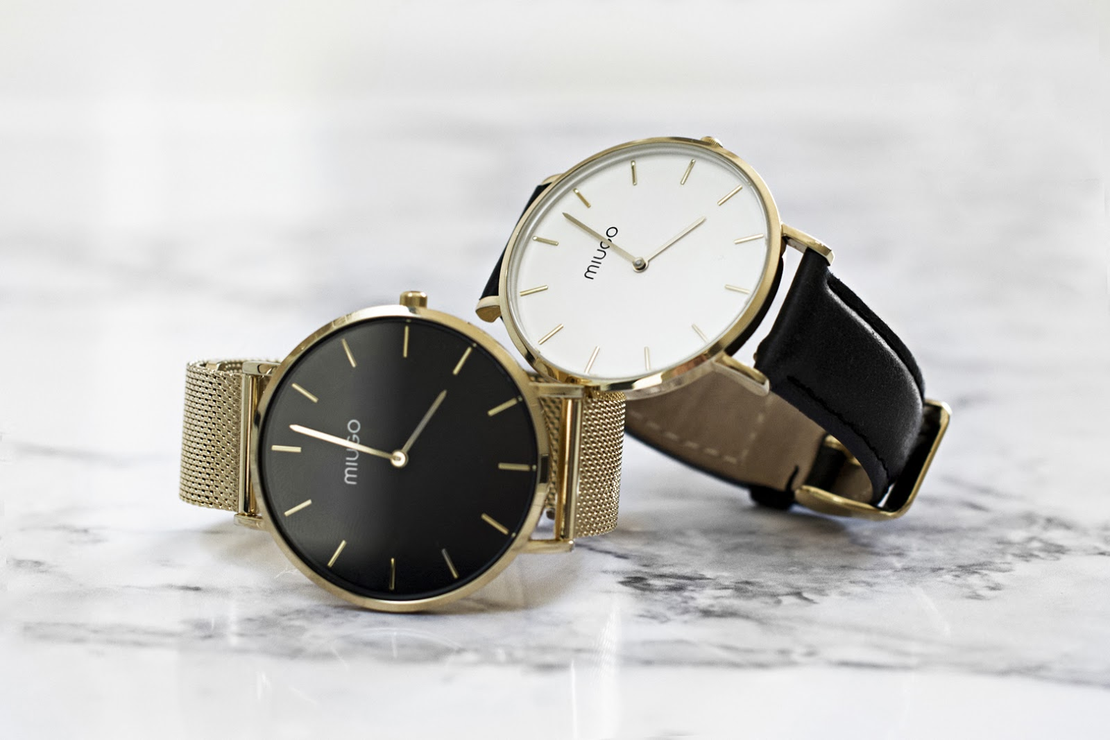 Złoty zegarek MIUGO na bransolecie