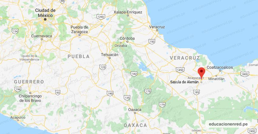 Temblor en México de Magnitud 4.2 (Hoy Lunes 12 Agosto 2019) Sismo - Epicentro - Sayula de Alemán - Veracruz de Ignacio de la Llave - VER. - SSN - www.ssn.unam.mx