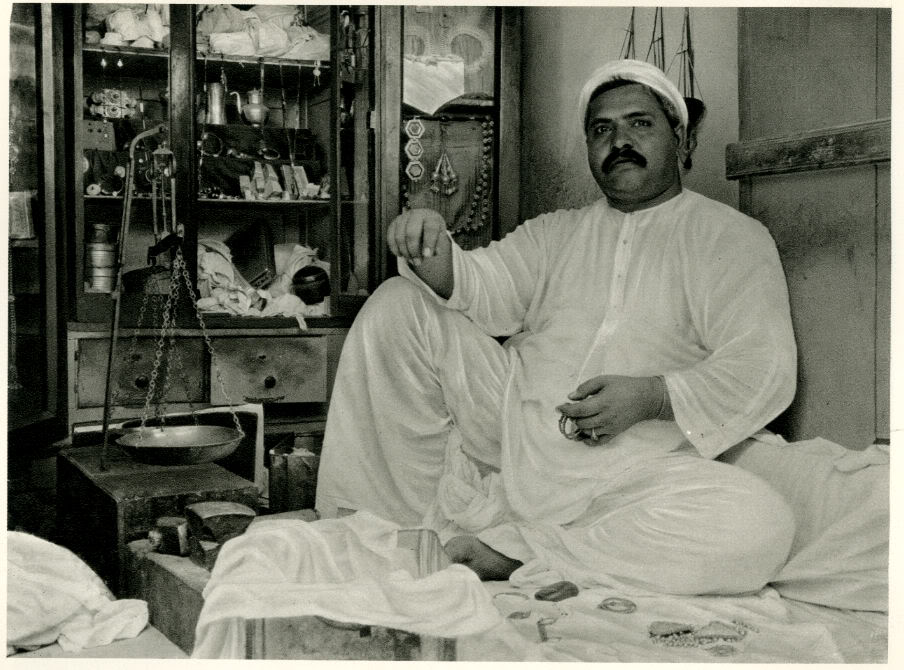 Portrait of a Jeweler in his Shop in Hyderabad, Sindh (Currently in Pakistan) - 1928