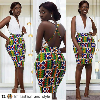 Kente fabric is mostly sewn into clothing ✘ 28 Ghanaian Kente Styles For Engagement We're Dying to Try