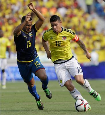 Colombia vs. Ecuador eliminatorias conmebol Rusia 2018
