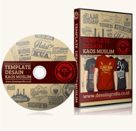 Paket 1 dvd Desain Kaos Distro Muslim- Rp. 150.000 .