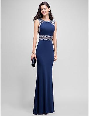 vestidos de gala largos azules