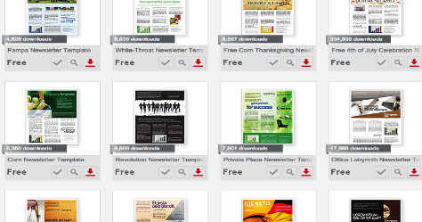 Excellent Templates To Use With Newsletters Powerpoint And Word
