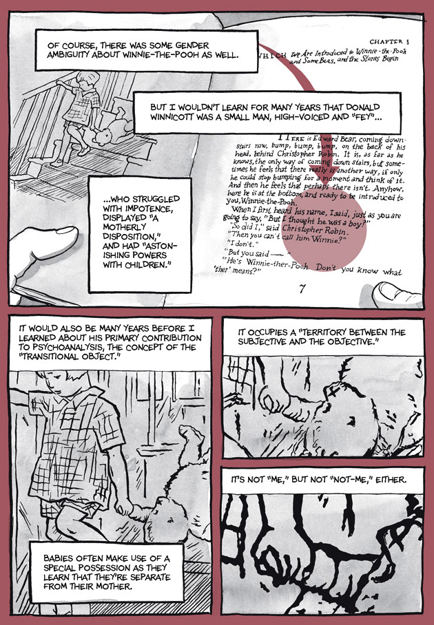 Page 18, Chapter 2: Transitional Objects from Alison Bechdel's graphic novel Are You My Mother