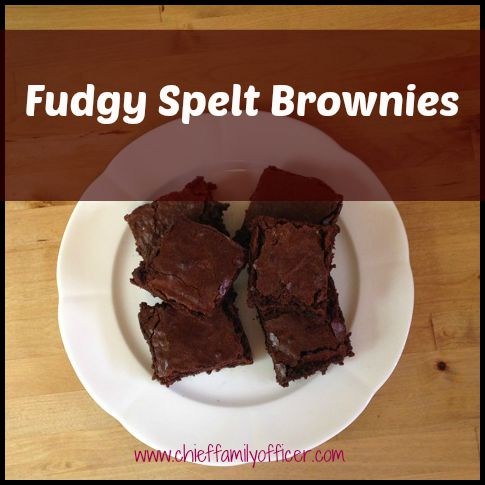Fudgy Spelt Brownies | Chief Family Officer