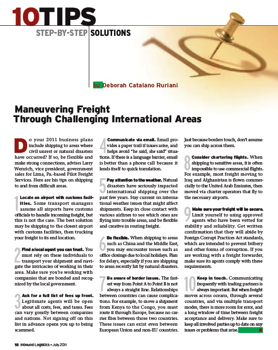 Pilot Freight Services: Maneuvering freight through challenging