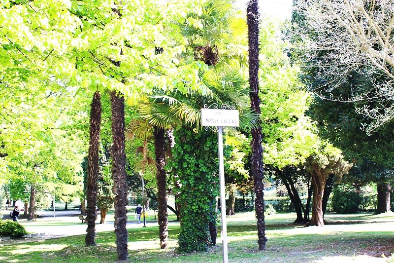 Maria Callas park in Sirmione Italy.Park Marije Kalas.