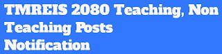 TMREIS 2080 Teaching, Non Teaching Posts Notification