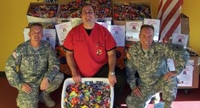 dentists buy back halloween candy to send to troops