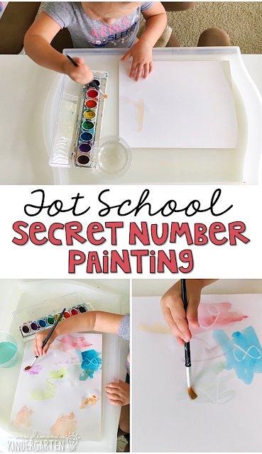 Secret Number Painting is fun for number identification, counting, and fine motor practice with a Chicka Chicka 123 theme. Great for tot school, preschool, or even kindergarten!