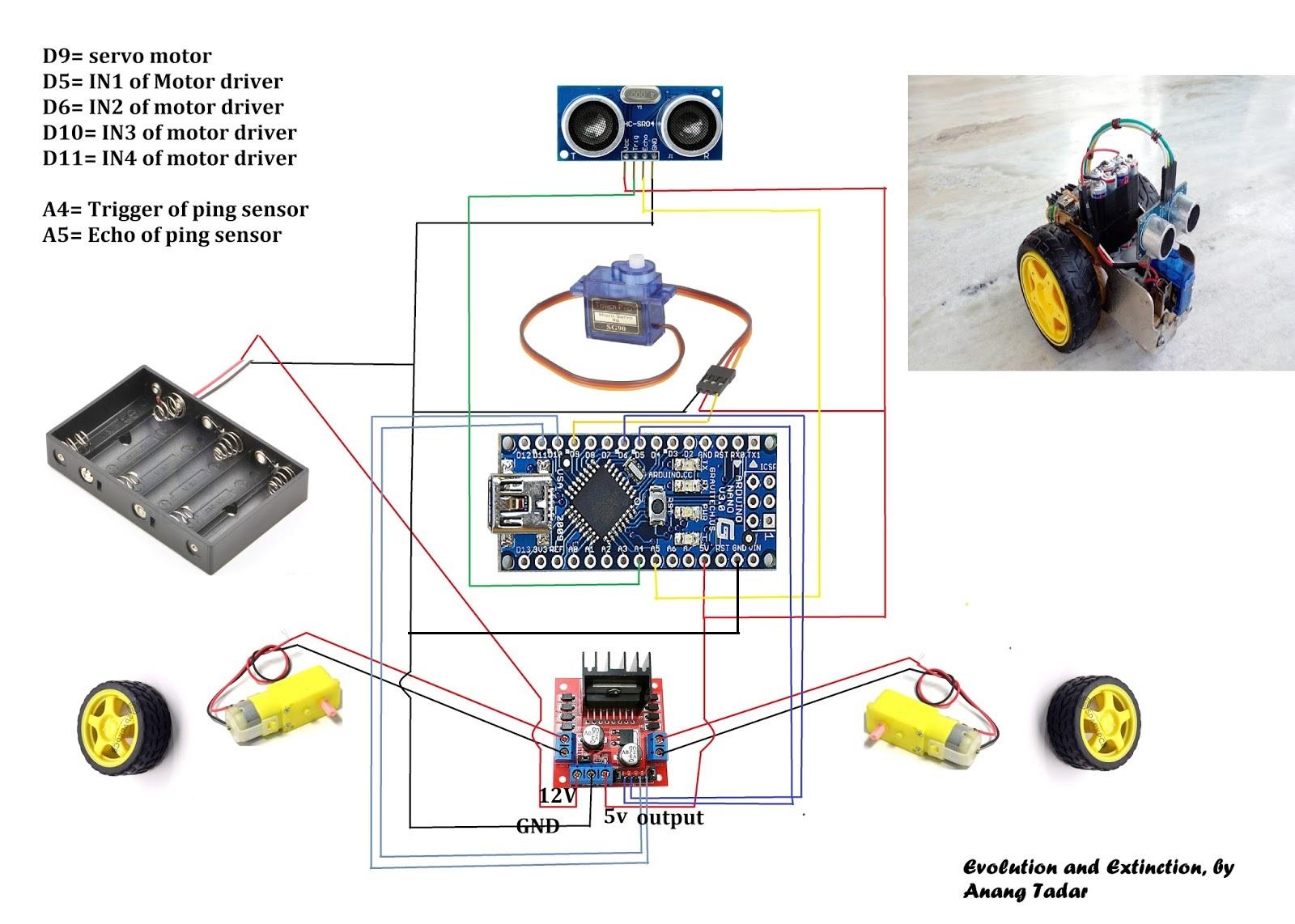 How To Make A Simple Autonomous Robot Evolution And Extinction Robotics Wiring Diagram