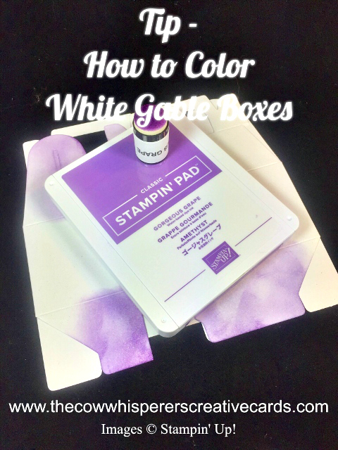 Tip, Color, White Gable Boxes, Stampin UP