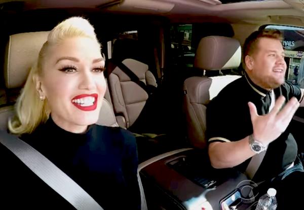 Gwen Stefani participa do Carpool Karaoke (com 2 convidados secretos) e é uma das melhores coisas que já vimos!