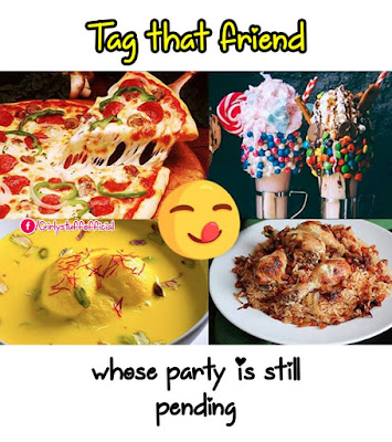 Tag that friend whose party is  still pending