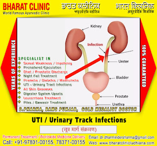 Urinary Tract Infections UTI Doctors Treatment Clinic in India Punjab Ludhiana +91-9780100155, +91-7837100155 http://www.bharatclinicludhiana.com
