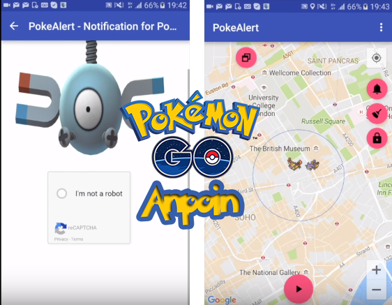 Cara Menggunakan Pokealert Map Pokemon GO, PokeAlert Map Scanner Mengatasi Chapta Login Pokemon GO.