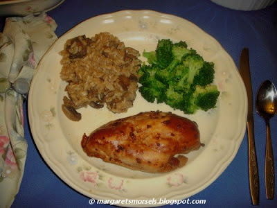 Margaret's Morsels   Marinated Baked Chicken