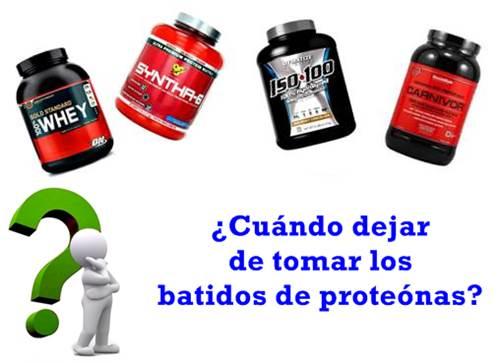 Las situaciones en las que debes dejar de tomar tu proteína