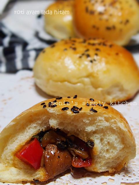 resep roti ayam lada hitam