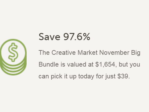 Download November Big Bundle - 97% off 88 fantastic design